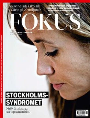 Fokus (magazine) - cover of the March 8–14, 2013 issue, featuring politician Filippa Reinfeldt