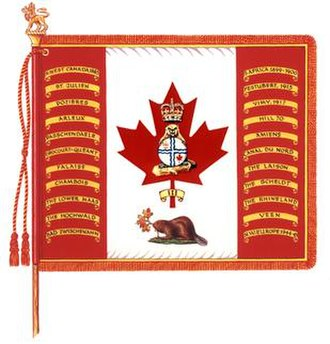 Governor General's Foot Guards - The Regimental Colour of the Governor General's Foot Guards.