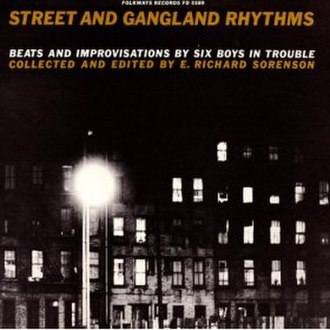 Folkways Records - Gangland Rhythms LP cover