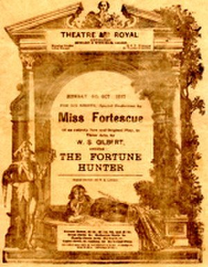 May Fortescue - Original programme for The Fortune Hunter