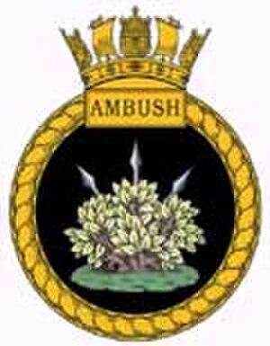 HMS Ambush (S120) - Image: HMS Ambush crest