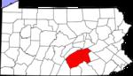 Map of the Harrisburg metropolitan area