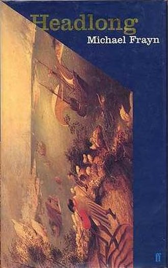 Headlong (Frayn novel) - First edition (publ. Faber) featuring Bruegel's Landscape with the Fall of Icarus