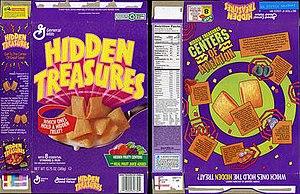 Hidden Treasures (cereal) - Box art after redesign