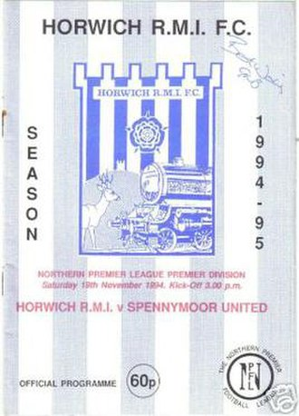 Leigh Genesis F.C. - Match programme from 1994