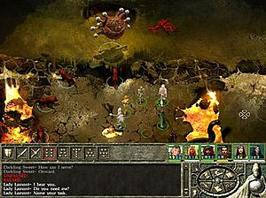 Icewind Dale II - Example of the main screen.