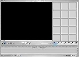 IMovie - A blank movie project in iMovie HD, included with iLife '05.