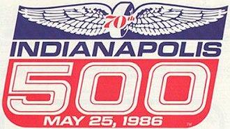 1986 Indianapolis 500 - Image: Indy 500Logo 1986