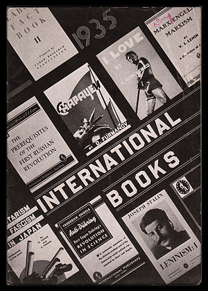 International Publishers - Cover of the 1935 International Publishers annual book catalog.