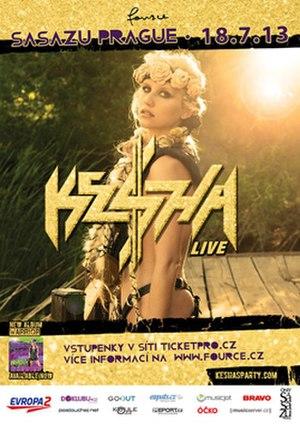 Warrior Tour - Image: Kesha 2013Tour Poster