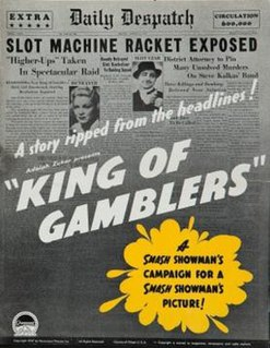 <i>King of Gamblers</i> 1937 film by Robert Florey