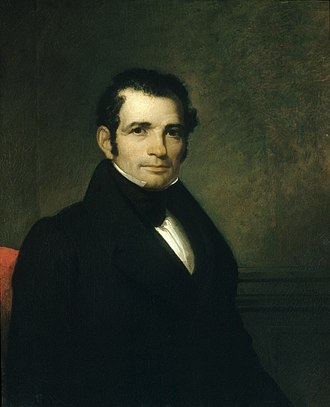 Luman Reed - Portrait of Luman Reed by Asher B. Durand (1835).
