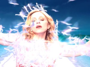 Love Profusion - Madonna being covered by fairies at the end of the official music video