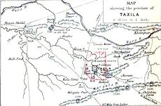 Map of Taxila - The ancient geography of India,  Volume 1 - Sir Alexander Cunningham - pg46.jpg