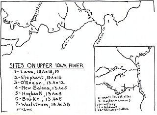 upper iowa river map File Map Of Upper Iowa River Oneota Site Complex Jpeg Wikipedia upper iowa river map