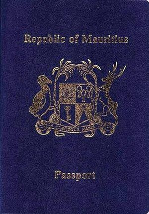 Mauritian passport - Mauritian passport front cover