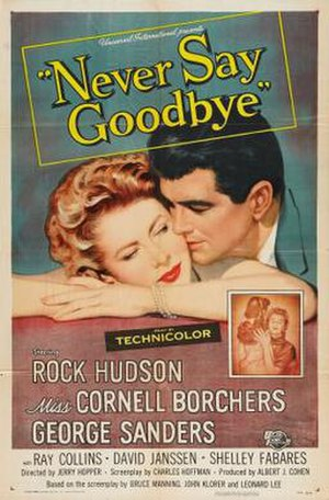 Never Say Goodbye (1956 film) - Film poster by Reynold Brown