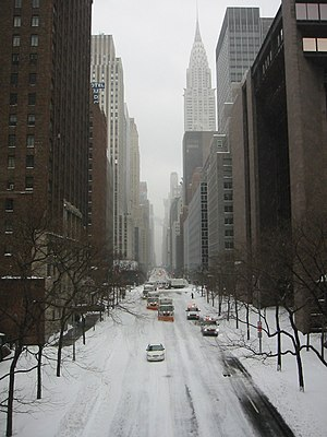 North American blizzard of 2003 - Image: Nyc snow 2003 1