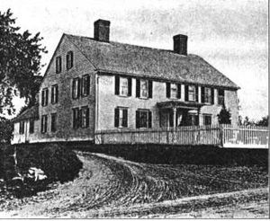 Union Village, Rhode Island - Peleg Arnold's house on Great Road, built ca. 1690, one of the oldest homes in North Smithfield and center of American military operations in the town during the American Revolution