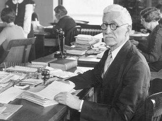 Walter Plecker - Walter Plecker at the Bureau of Vital Statistics in 1935