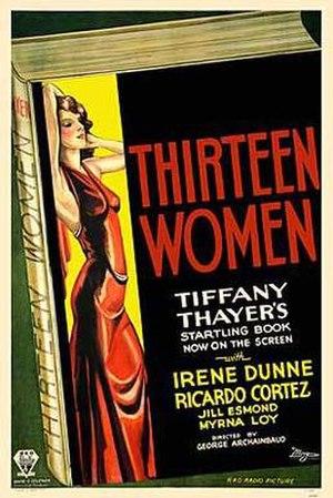 Thirteen Women - Theatrical release poster