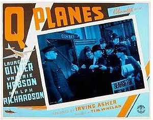 Q Planes - British quad cinema Lobby card poster