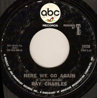 Here We Go Again (Ray Charles song) - Image: Ray Charles Here We Go Again