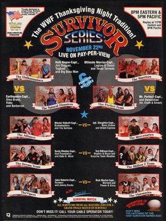Survivor Series (1990) - Promotional poster