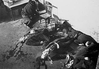 Saint Valentines Day Massacre 1929 gang shooting in Chicago