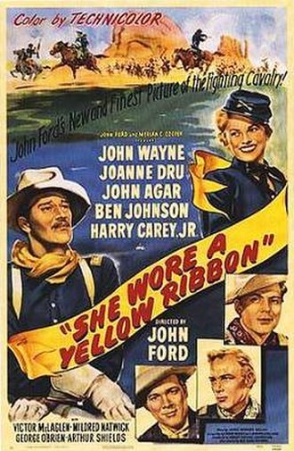 She Wore a Yellow Ribbon - Theatrical release poster