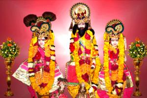 Akrura - Shree Akrura with Krishna and Balarama, Gopi Nath Temple