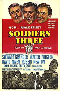 <i>Soldiers Three</i> (film) 1951 film by Tay Garnett
