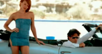 """Some Kind of Bliss - Minogue and Fletcher in the music video for """"Some Kind of Bliss""""."""