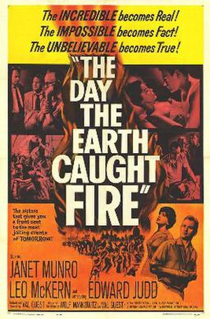 The Day the Earth Caught Fire - Theatrical release poster