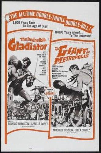 The Invincible Gladiator - Image: The Invincible Gladiator Film Poster