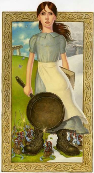 Tiffany Aching - Tiffany in The Wee Free Men, as drawn by Paul Kidby