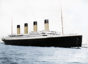 Titanic Colourised, photographed in Southampton.png