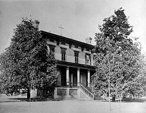 Mount de Sales Academy (Georgia) - The former residence of Governor George Towns c. 1880s, the original building and site of Mount de Sales Academy