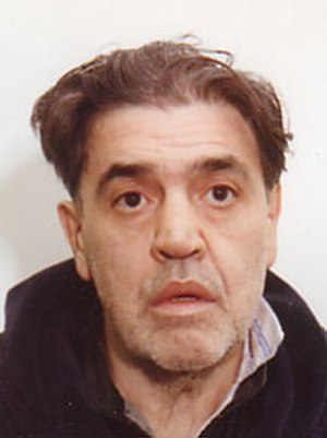 Vincent Gigante - FBI mugshot of Gigante.