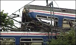 Watford rail crash - Image: Watford rail crash