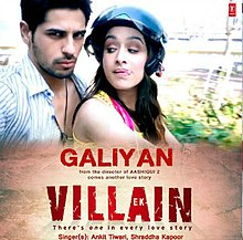 Cover Of The Song Featuring Actors Sidharth Malhotra And Shraddha Kapoor