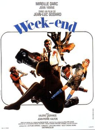 Weekend (1967 film) - theatrical release poster