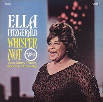 Whisper Not (Ella Fitzgerald album) - Image: Whisper Not