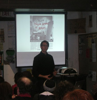 Will Potter - Will Potter presentation at Green Scare Event, Wooden Shoe Books, Philadelphia