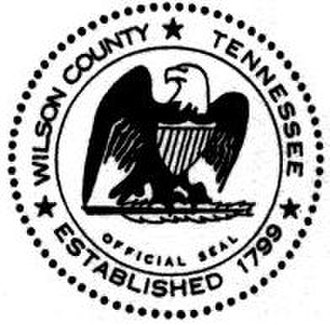 Wilson County, Tennessee - Image: Wilson County tn seal