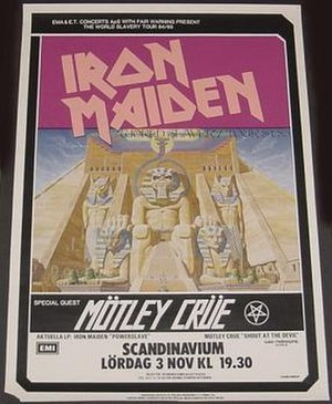 World Slavery Tour - Official tour advertisement for the band's performance at Gothenburg, 3 November 1984
