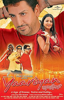 Yaariyan Hindi Movie Poster Yaariyan (2008 film) -...
