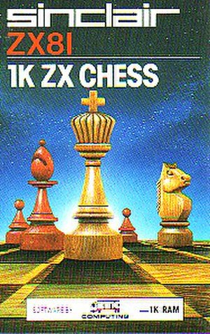 1K ZX Chess - Cover of Artic Computing's 1K ZX Chess