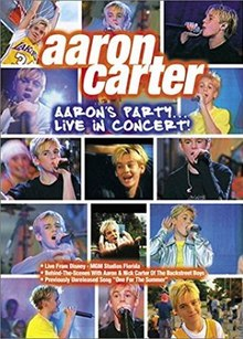 Aaron's Party Live in Concert DVD cover by Aaron Carter.jpg