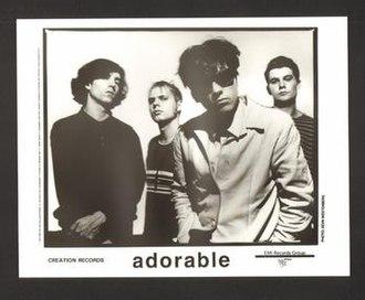 Adorable (band) - L to R Robert Dillam, Stephen 'Wil' Williams, Pete Fijalkowski, Kevin Gritton (1991)